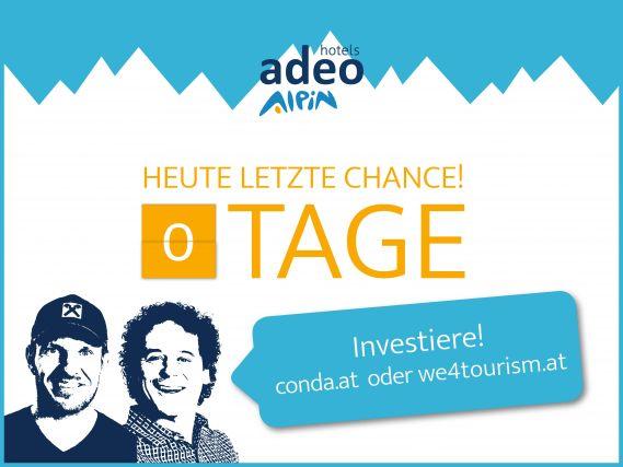 Nur noch 24 Stunden bis zum Kampagnen-Ende von adeo ALPIN