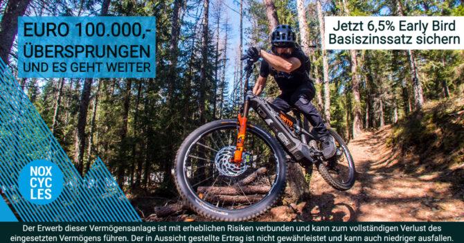 NOX Cycles - rast über 100.000 Euro - CONDA