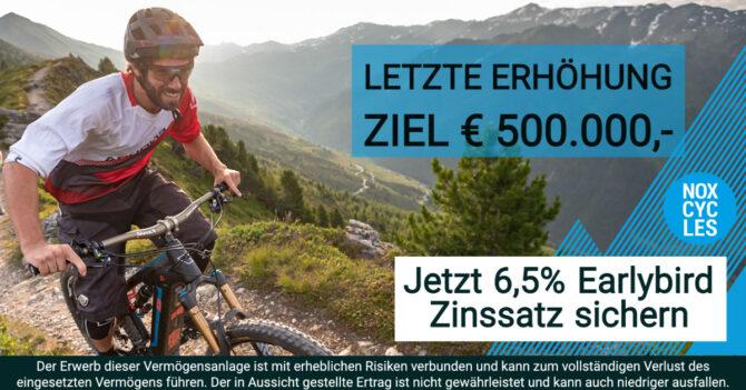 NOX Cycles - Nutze die LETZTE Chance - Fundingziel Euro 500.000,- CONDA