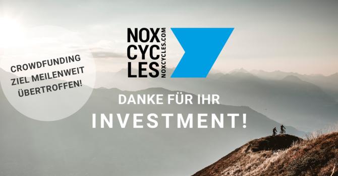 NOX Cycles - €500.000,- erfolgreich ausfinanziert & Warteliste