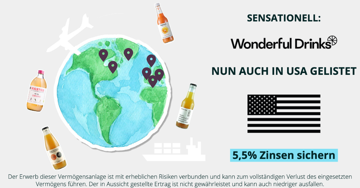 Wonderful Drinks / PONA - Listung USA - CONDA