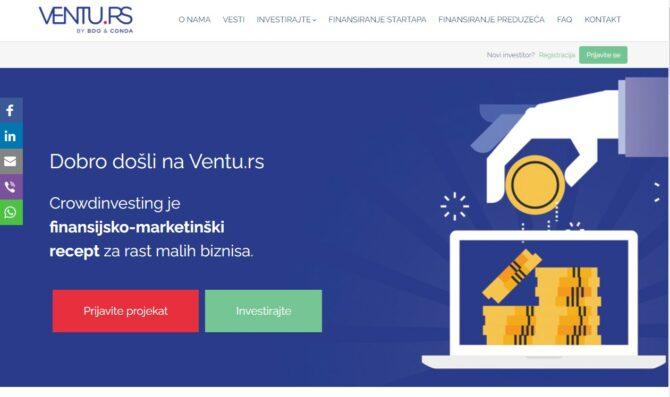 ventu.rs Crowdinvesting Serbien