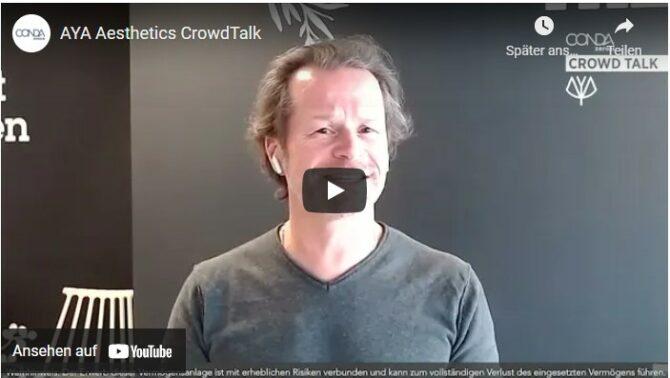AYA Aesthetics CONDA Crowdinvesting investieren