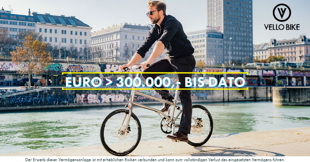 VELLO Bike - 300.000 Euro - CONDA