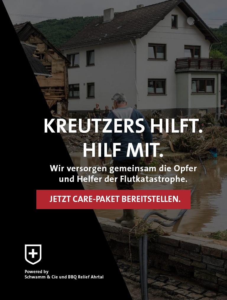 Kreutzers hilft Spendenaktion Flutopfer