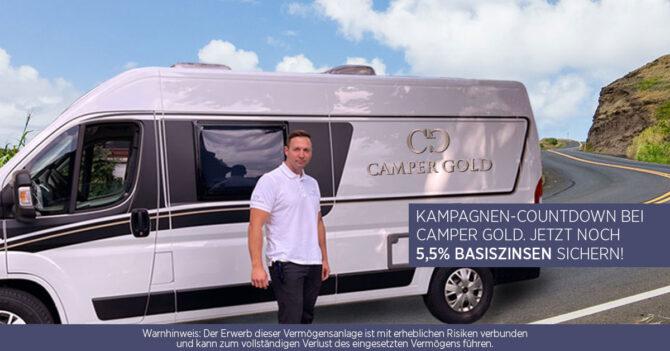 Camper Gold gehr in den Kampagnen-Countdown