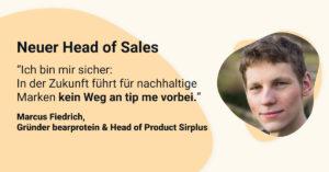 Neuer Head of Sales bei tip me - Marucs Fiedrich