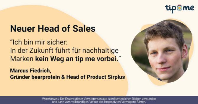 Neuer Head of Sales bei tip me